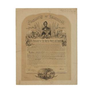 解放の布告のB Bラッセル及びCo (1868年) ウッドウォールアート