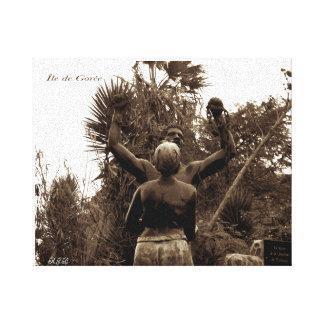 解放の彫像- Goreeの島、セネガル キャンバスプリント