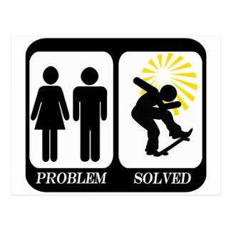 解決するスケートボーダー問題 はがき