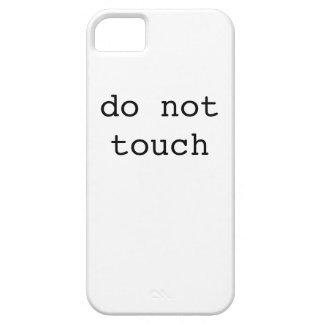 触れないで下さい(iphoneの場合) iPhone SE/5/5s ケース