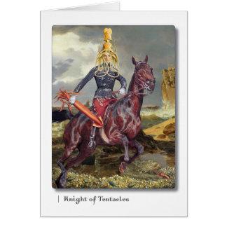 触手のタロットの挨拶状の騎士 カード