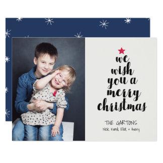 言い表わされたクリスマスツリーの休日の写真カード 12.7 X 17.8 インビテーションカード