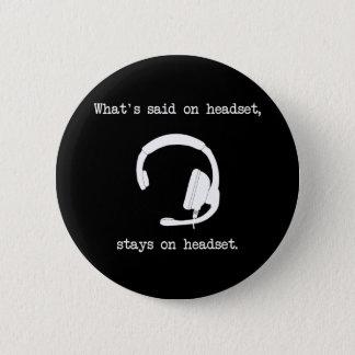 言われる何がヘッドホーンで、とどまりますヘッドホーンに 缶バッジ