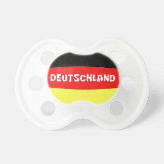 言葉遣いを用いるドイツ旗 赤ちゃんおしゃぶり