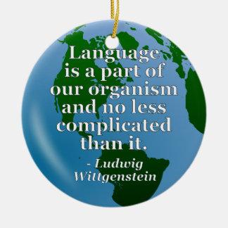 言語は部分の引用文です セラミックオーナメント