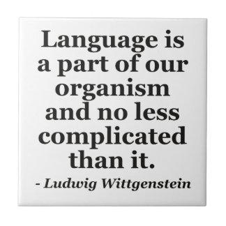 言語は部分の引用文です タイル