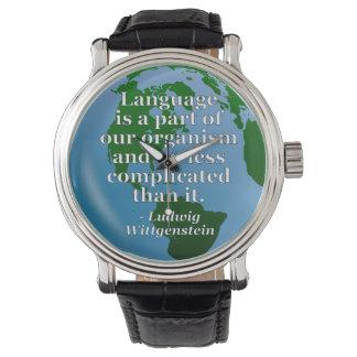言語は部分の引用文です 腕時計