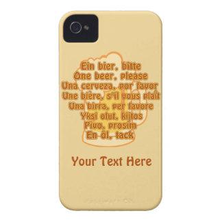 言語カスタムなiPhoneの穹窖のビール Case-Mate iPhone 4 ケース