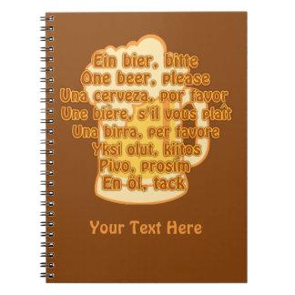 言語カスタムのノートのビール ノートブック