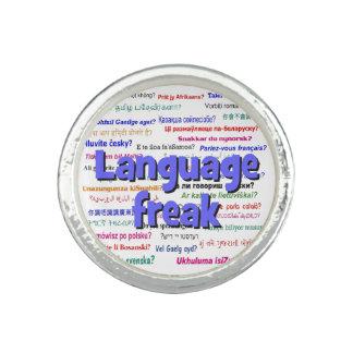 言語変種および背景の青 指輪