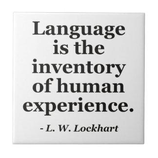 言語目録人間の経験の引用文 タイル
