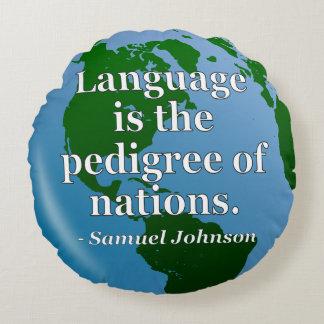 言語純種の国家の引用文。 地球 ラウンドクッション