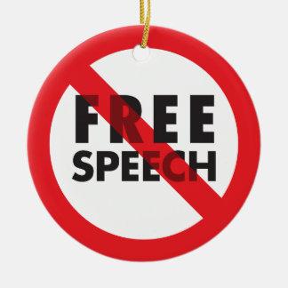 言論の自由のオーナメント セラミックオーナメント