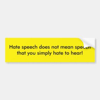 言論の自由のバンパーステッカー バンパーステッカー