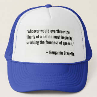 言論の自由のベンジャミン・フランクリンの引用語句 キャップ