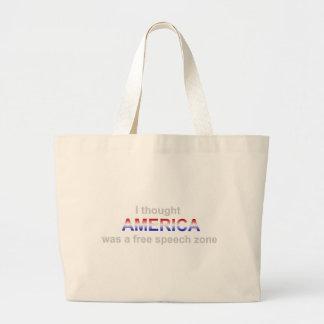 言論の自由の地帯のバッグ ラージトートバッグ