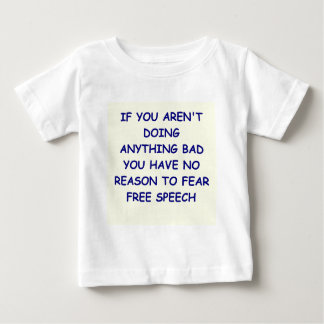 言論の自由 ベビーTシャツ