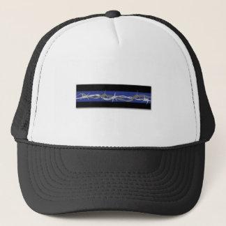 訂正はブルーラインBarbワイヤートラック運転手の帽子を薄くします キャップ