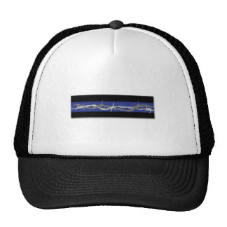 訂正はブルーラインBarbワイヤートラック運転手の帽子を薄くします メッシュキャップ