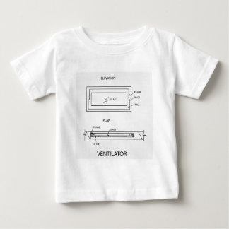 計画および高度を示す換気装置の図表 ベビーTシャツ