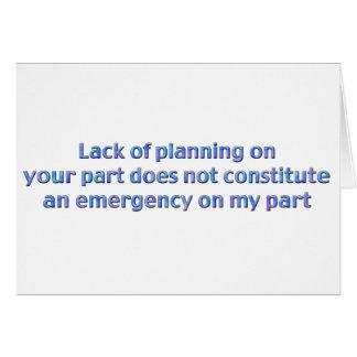 計画の欠乏 グリーティングカード