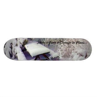 計画の雪で覆われたピクニック用のテーブル、マツで変えて下さい 20.6CM スケートボードデッキ