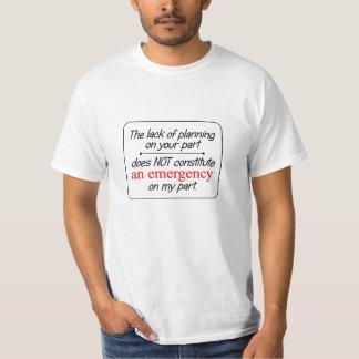 計画の… -人のTシャツ(ライト)の欠乏 Tシャツ