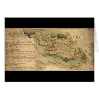 計画deロードアイランドの地図(1778年) カード