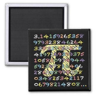 計算されるおもしろいおよびカラフルな黒板スタイルPi マグネット
