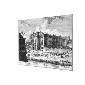 計算のために造られるTrautson宮殿の眺め キャンバスプリント