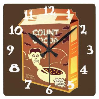 計算のココア箱の正方形の時計 スクエア壁時計