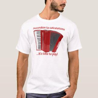 計算へのアコーディオン Tシャツ