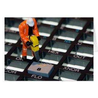 計算機を持つ建設作業員 カード