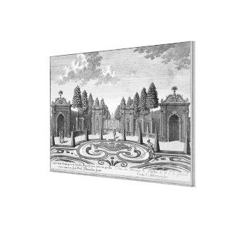 計算Althan、「Vorstelからのウィーンの庭、 キャンバスプリント