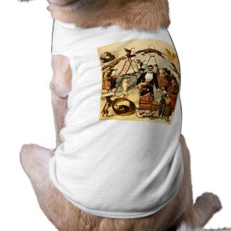 訓練された犬の行為1899年-ヴィンテージのサーカスの出し物ポスター ペット服