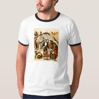 訓練された犬の行為1899年-ヴィンテージのサーカスの出し物ポスター Tシャツ