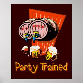 訓練されるパーティー ポスター