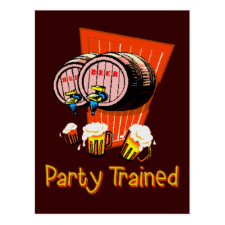 訓練されるパーティー ポストカード