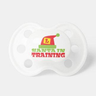 訓練のサンタ! サンタのかわいい帽子を使って おしゃぶり