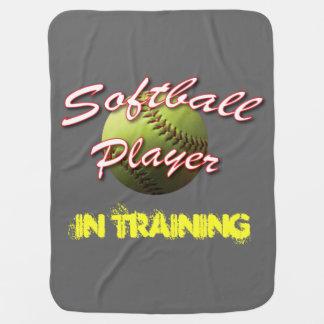 訓練のソフトボールのベビープレーヤー ベビー ブランケット