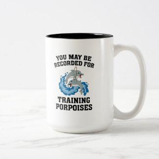 訓練のネズミイルカ ツートーンマグカップ
