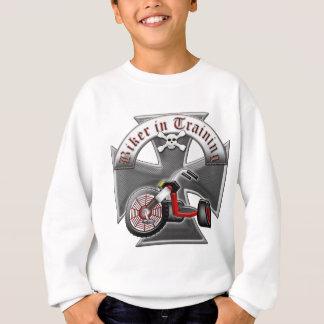 訓練のバイクもしくは自転車に乗る人 スウェットシャツ