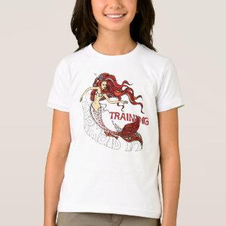 訓練の人魚、子供(赤毛) Tシャツ