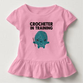 訓練の幼児のワイシャツのCrocheter トドラーTシャツ