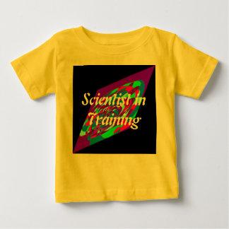 訓練の幼児の子供科学のティーの科学者 ベビーTシャツ