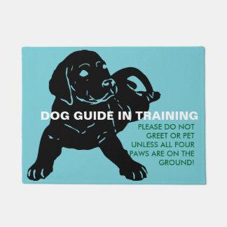 訓練の玄関マット-カスタムな文字の犬ガイド ドアマット