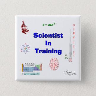 訓練の科学者 5.1CM 正方形バッジ