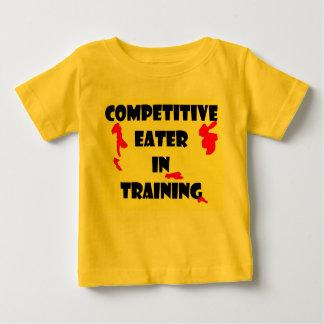 訓練の競争の食べる人 ベビーTシャツ