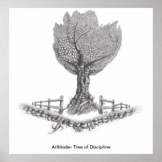 訓練のArtblade-の木 ポスター