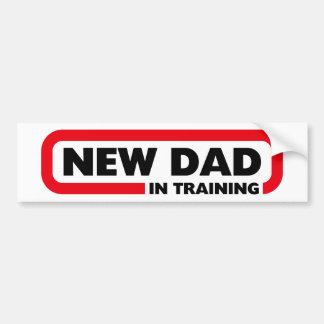訓練-おもしろいなバンパーステッカーの新しいパパ バンパーステッカー